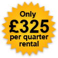 Only £325 pounds per quarter rental